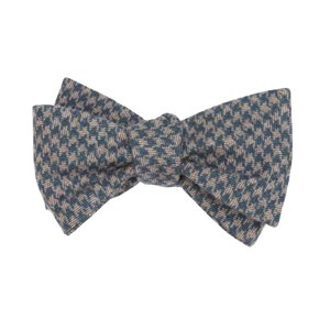 brushed cotton houndstooth navy bow ties