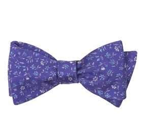 Purple Floral Acres bow ties