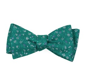Aqua Floral Acres bow ties