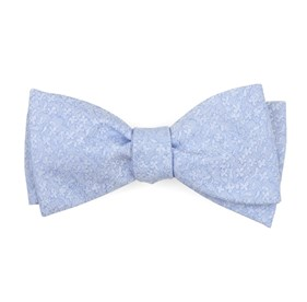 Light Blue Floral Dip bow ties
