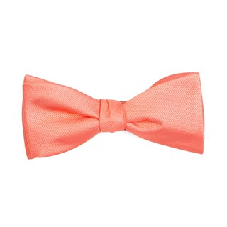 grosgrain solid coral bow ties