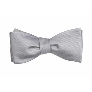 grosgrain solid grey bow ties