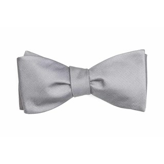 grosgrain solid grey boys bow ties