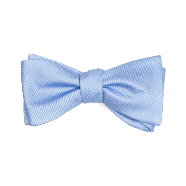 Light Blue Grosgrain Solid Bow Tie