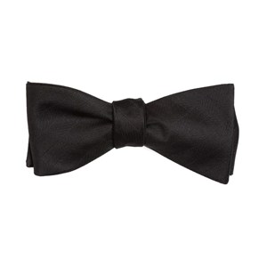 herringbone vow black bow ties