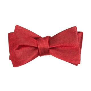 herringbone vow red bow ties
