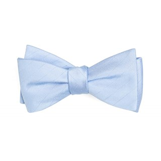 Herringbone Vow Light Blue Bow Tie