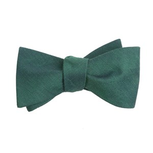 linen row hunter green boys bow ties