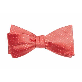 mini dots coral boys bow ties