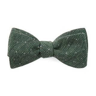 redwood dot hunter green bow ties