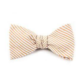 Orange Seersucker bow ties