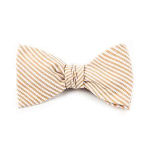 seersucker orange bow ties