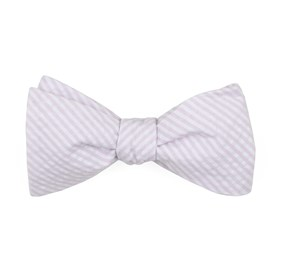 BABY PINK SEERSUCKER bow ties
