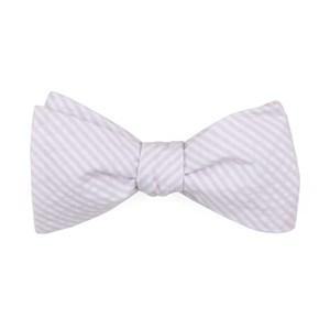 seersucker baby pink bow ties