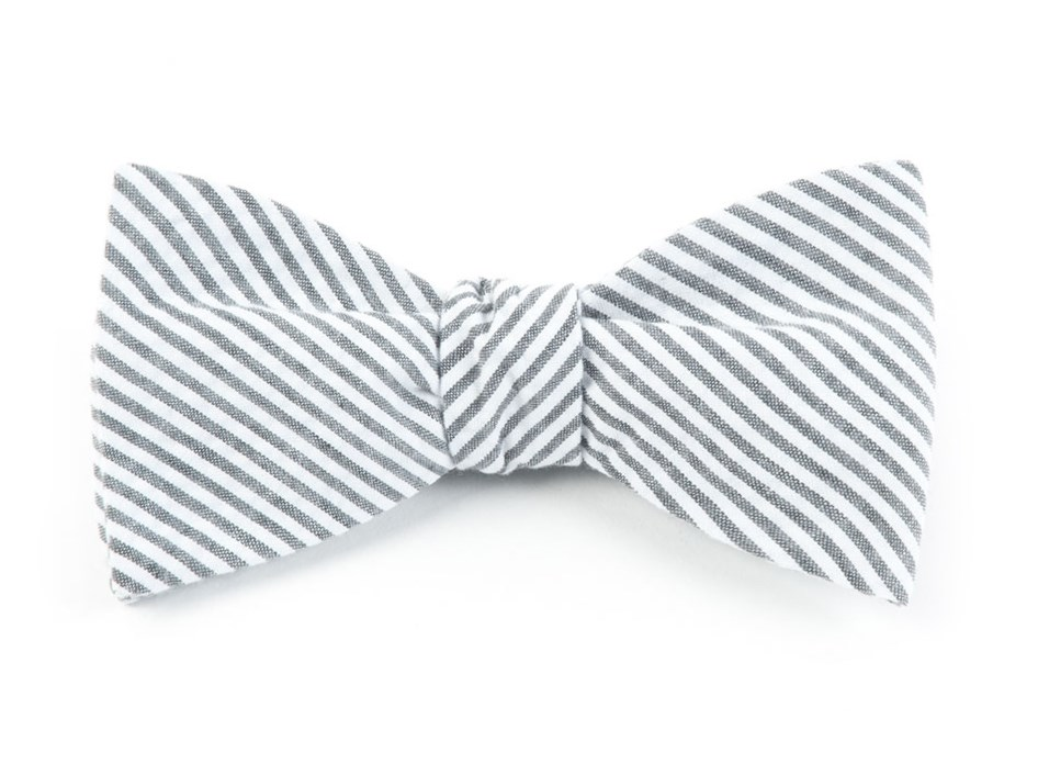 f98708f3df01 Grey Seersucker Bow Tie - Grey Seersucker Bow Tie primary image ...