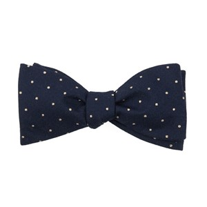 mumu weddings - dotted retreat rich navy bow ties