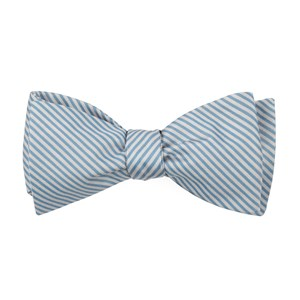 mumu weddings - coastal stripe steel blue bow ties