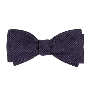 five star solid eggplant bow ties