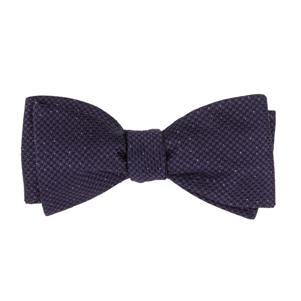 Eggplant Five Star Solid Bow Tie