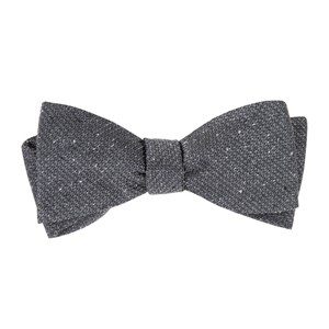 five star solid grey bow ties