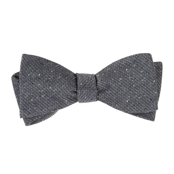 Grey Five Star Solid Bow Tie
