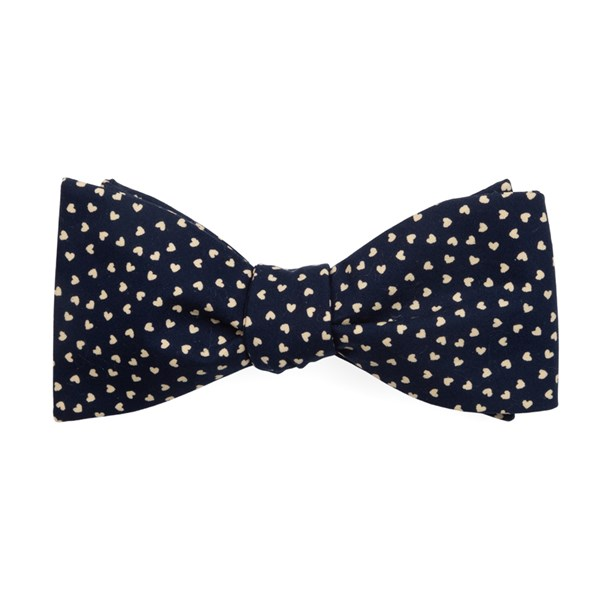Navy Animated Hearts Bow Tie