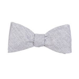 sunset solid grey bow ties