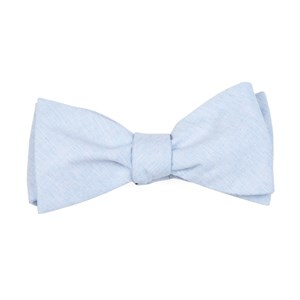 sunset solid light blue bow ties