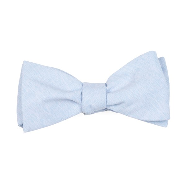 Light Blue Sunset Solid Bow Tie