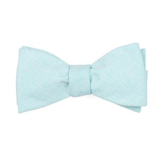 sunset solid mint bow ties