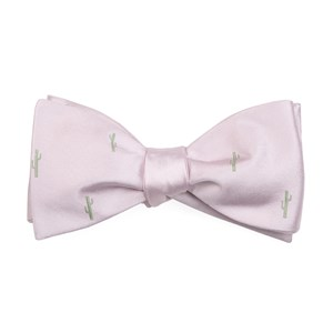 mumu weddings - cactus blush pink bow ties