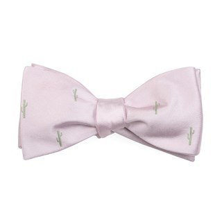 Mumu Weddings - Cactus Blush Pink Bow Tie