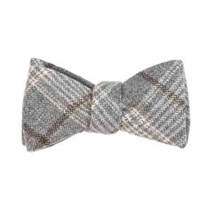 barberis wool freddo grey bow ties