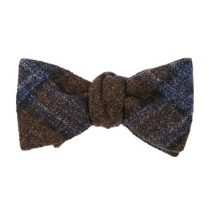 barberis wool maschile brown bow ties