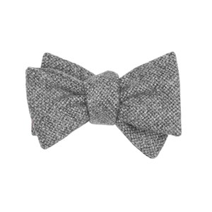barberis wool vestito grey bow ties