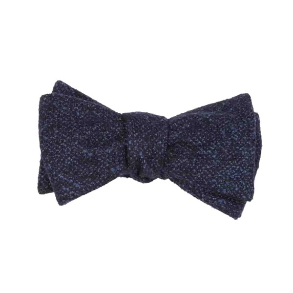 Navy Barberis Wool Vestito Bow Tie