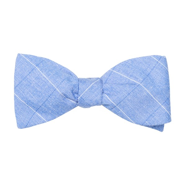 Blue Daybreak Checks Bow Tie