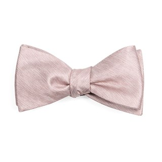 mumu weddings - desert solid neutral mauve bow ties