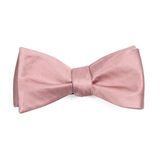 Mumu Weddings - Desert Solid Antique Rose Bow Tie