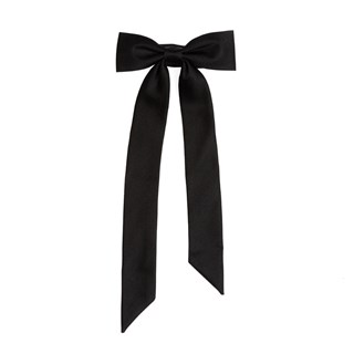 Grosgrain Neck Bow Black Bow Tie