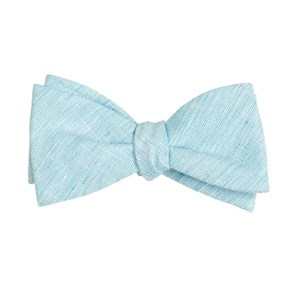 serenity solid turquoise bow ties