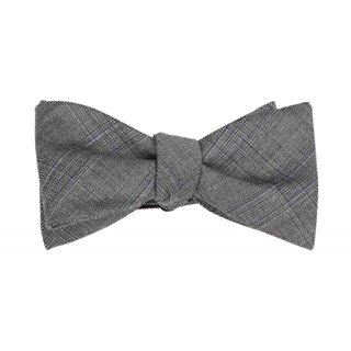 azur glen plaid grey bow ties