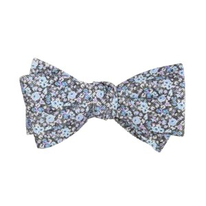 corduroy freesia floral charcoal bow ties