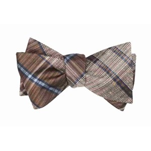 misty plaid brown bow ties
