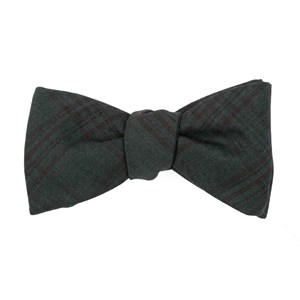 harvest glen plaid hunter green bow ties
