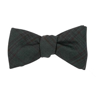 Harvest Glen Plaid Hunter Green Bow Tie