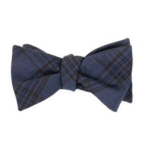 harvest glen plaid navy bow ties