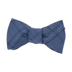 quotidian plaid navy bow ties