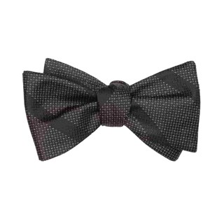 glimmer black bow ties