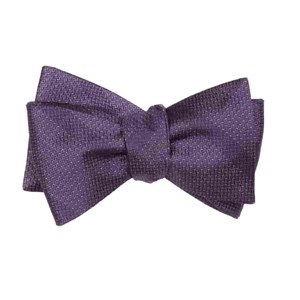 glimmer eggplant bow ties